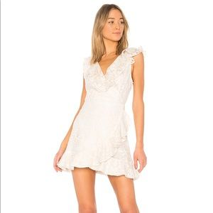BB Dakota Harlow Lace Wrap Dress